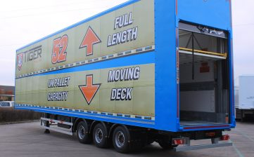 Tiger Trailers to premiere UK's first 52-pallet moving deck trailer at CV Show 2017