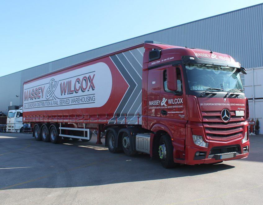 News - Massey Wilcox curtainsider fleet order 01 Winsford Industrial old Mercedes truck