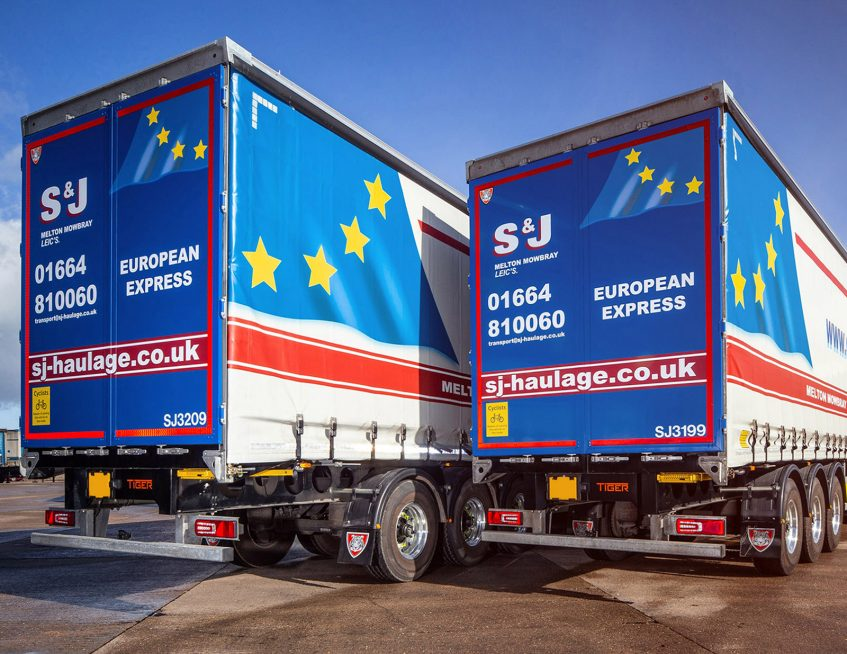 S&J Haulage European curtainsiders fleet