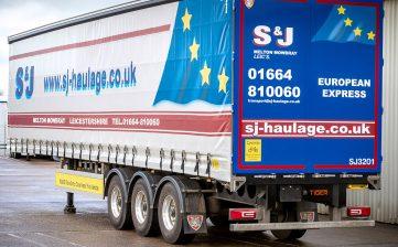 S&J Haulage European fleet curtainsider order - rear