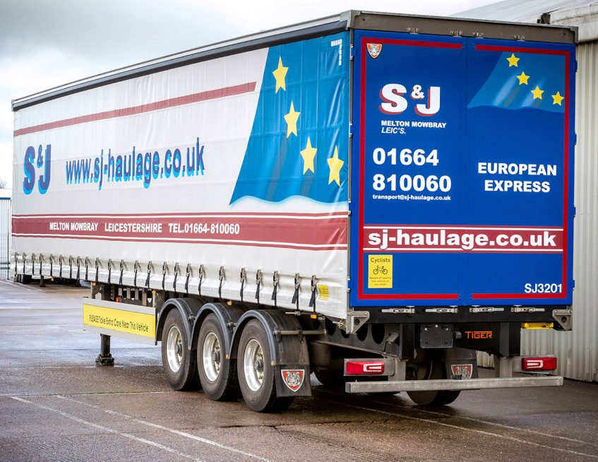 S&J Haulage European fleet curtainsider order - rear