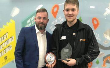 Scott Capel awarded Advanced Apprentice Of The Year Award