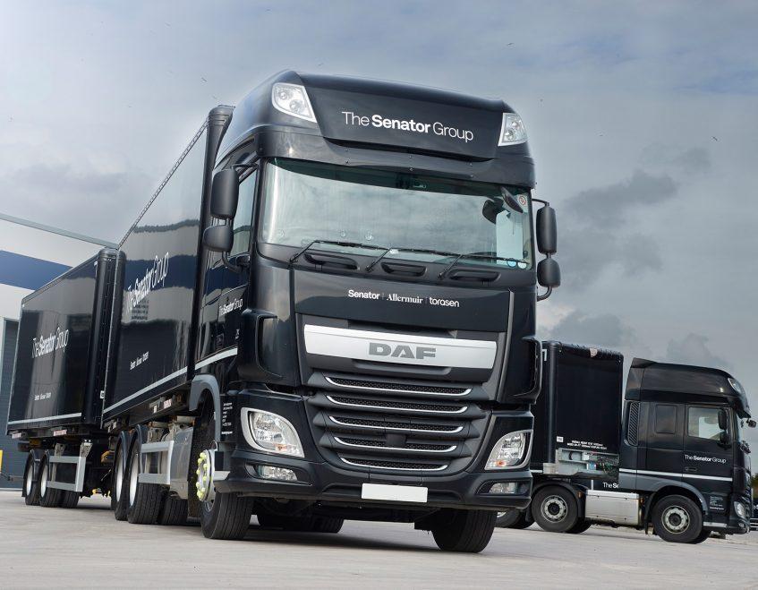 News - Senator furniture (Lancashire) - swap body prime mover demountable drawbar DAF Trucks