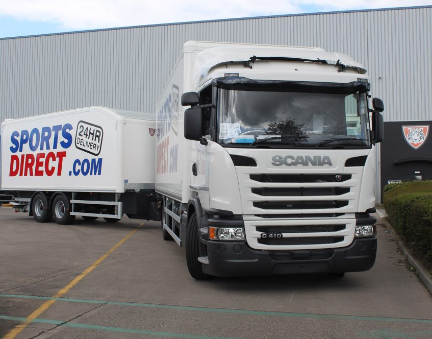 News - Sports Direct rigid drawbar prime mover swap body trucks trailers Scania G410
