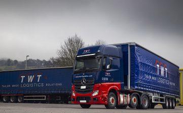 TWT Logistics Group curtainsiders Mercedes trucks