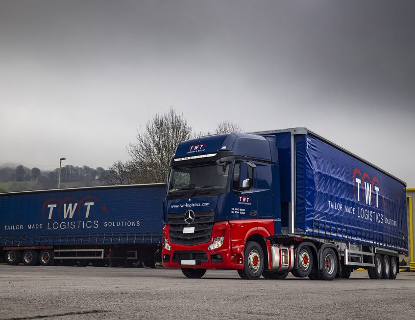 TWT Logistics Group curtainsiders Mercedes trucks