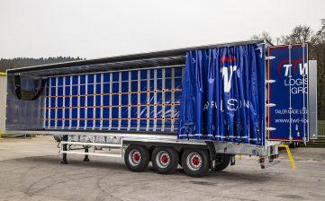 TWT Logistics Group curtainsiders - load securing restraint steps ladder