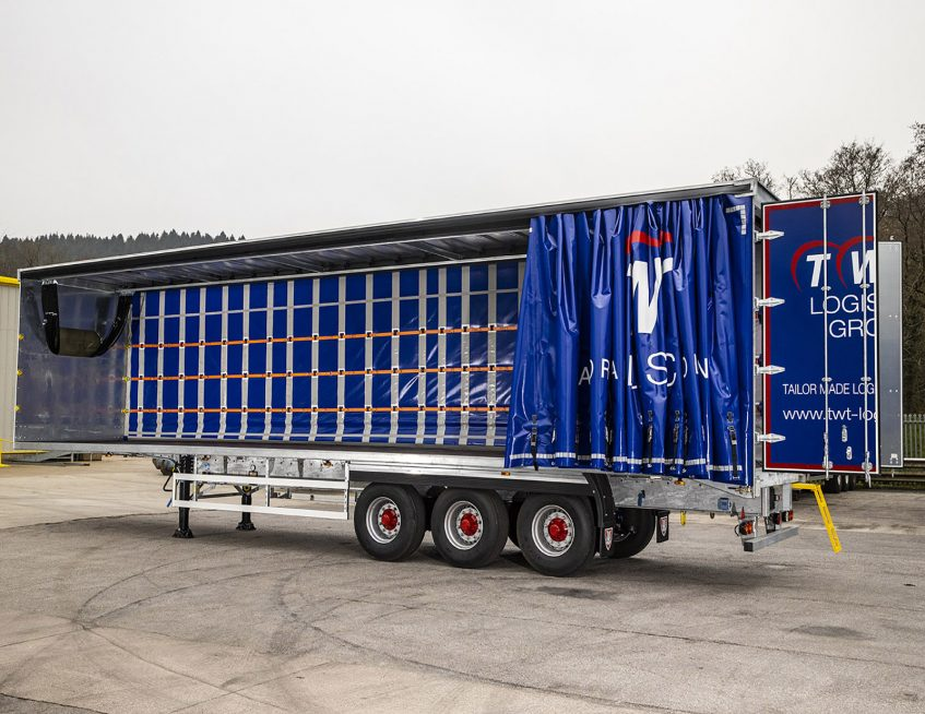 TWT Logistics Group curtainsiders - load securing restraint steps ladder