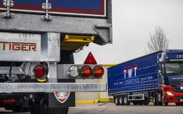 TWT Logistics Group curtainsiders Mercedes truck