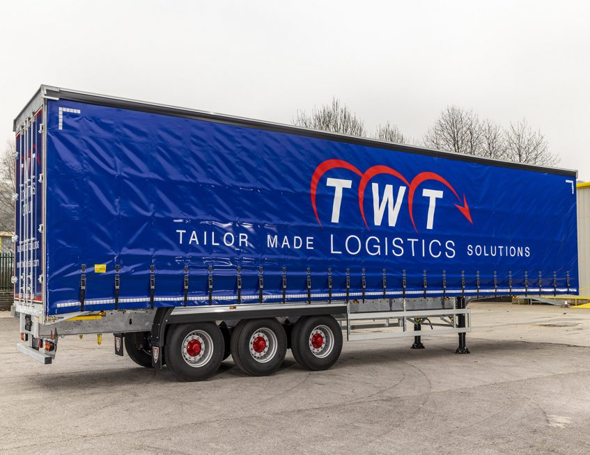 TWT Logistics Group curtainsiders - straps