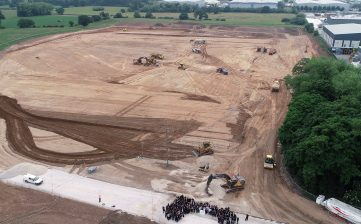 News - new Winsford Cheshire factory manufacturing update groundbreak drone aerial