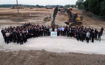 News - new Winsford Cheshire factory manufacturing update groundbreak team