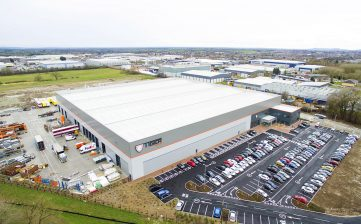 Relocation to new Winsford Cheshire manufacturing factory - aerial drone