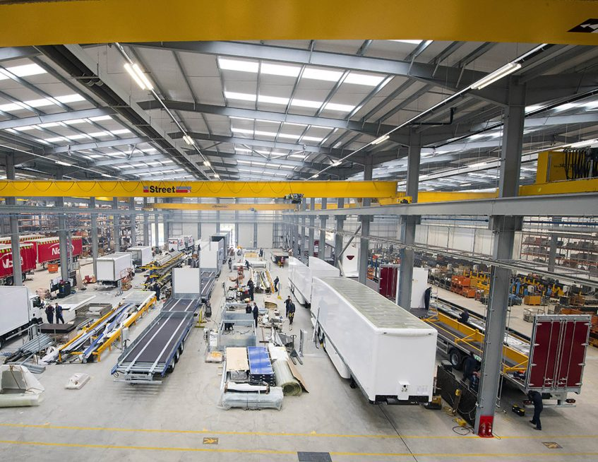 Relocation to new Winsford Cheshire manufacturing factory - production lines