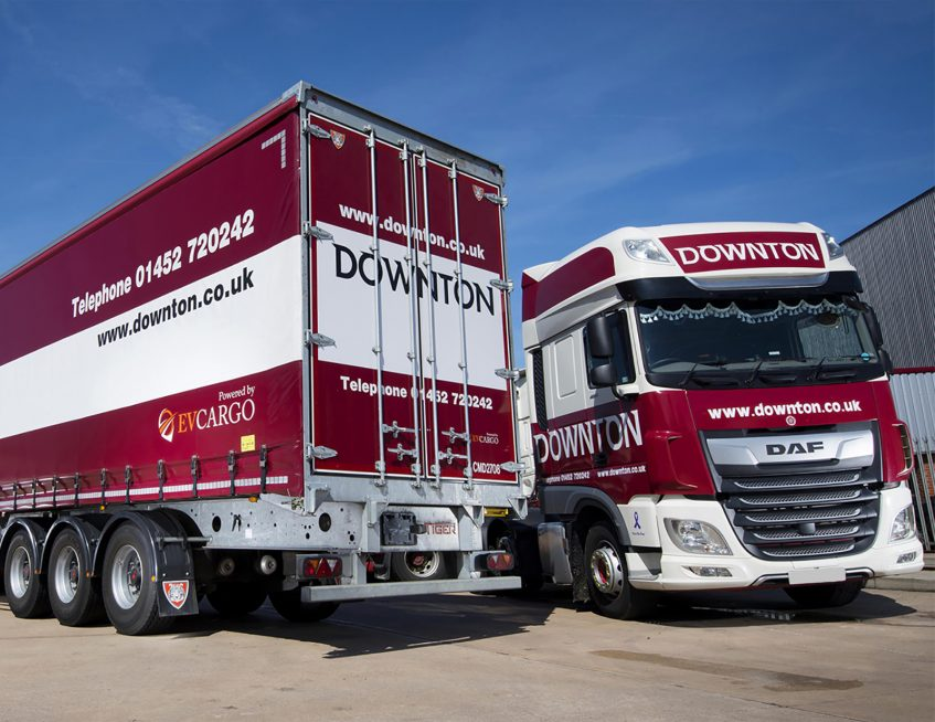 CM Downton EV Cargo curtainsiders - DAF trucks