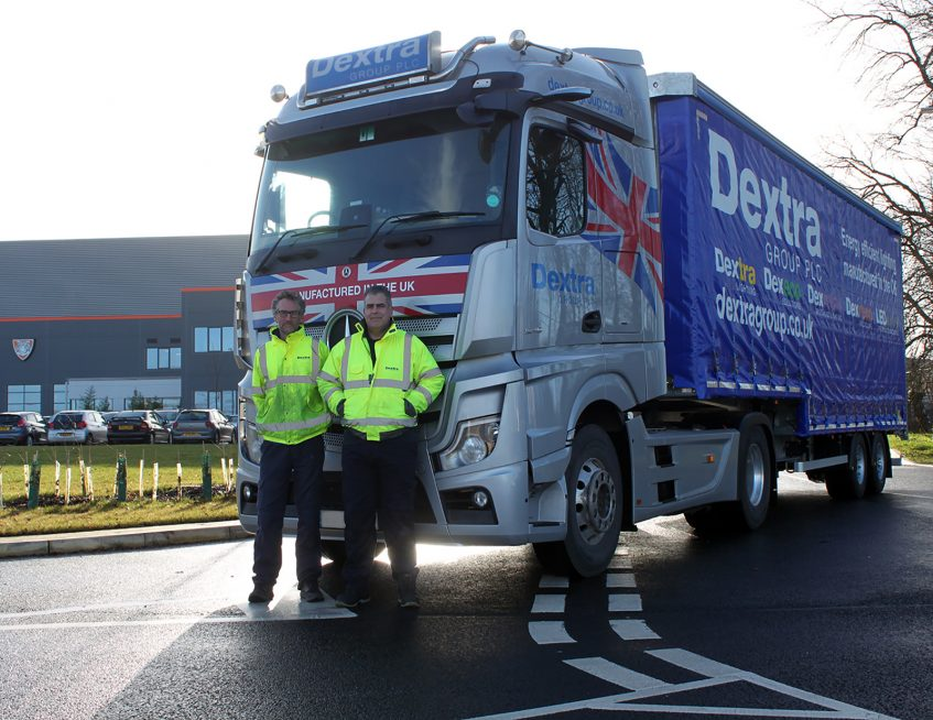Dextra double curtainsider - factory drivers collecting