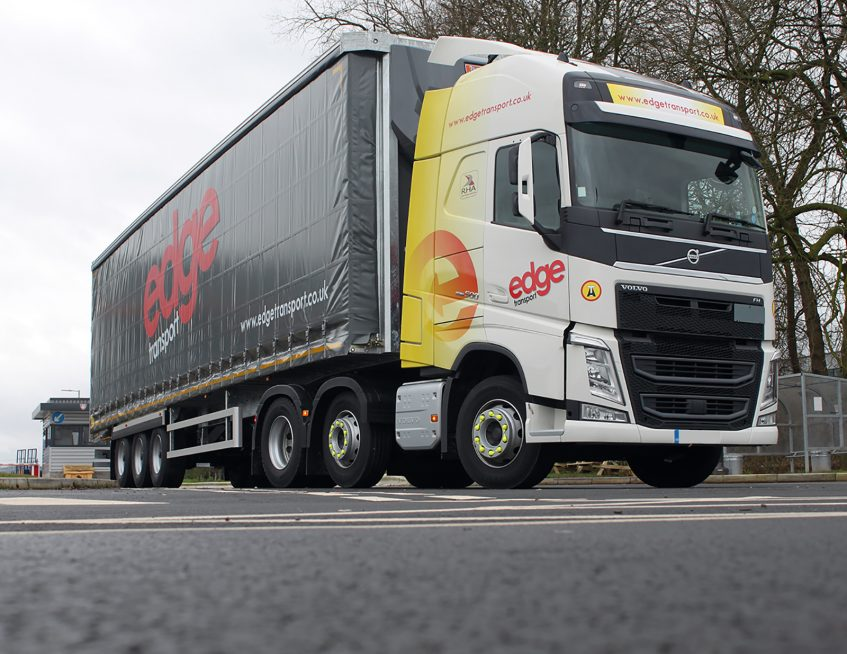 Edge Transport curtainsider and Volvo FM truck