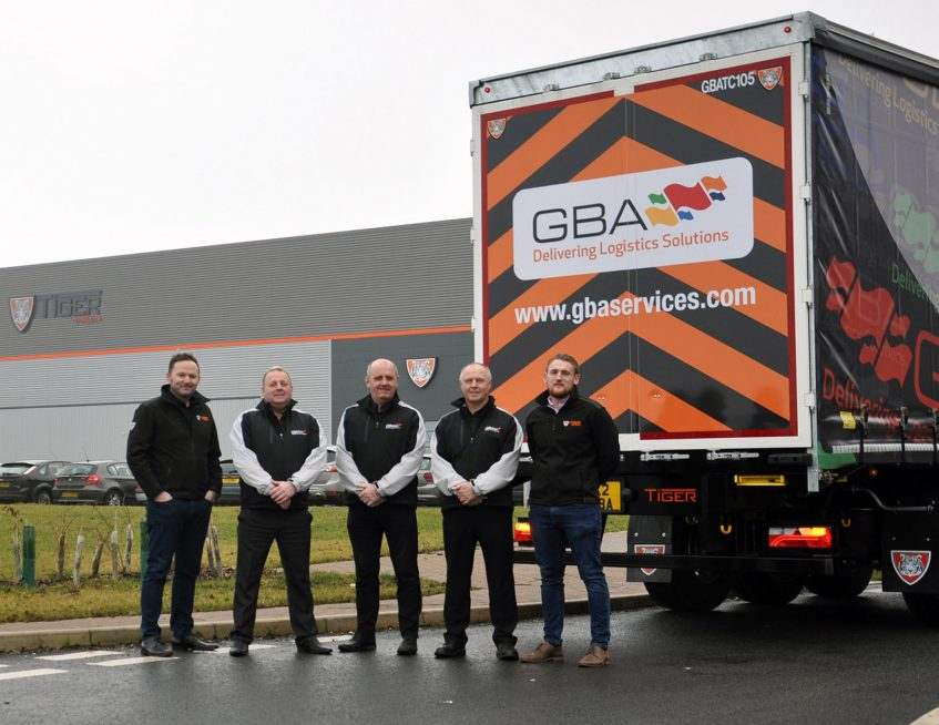 GBA Services tallboy curtainsiders - Birkbeck team