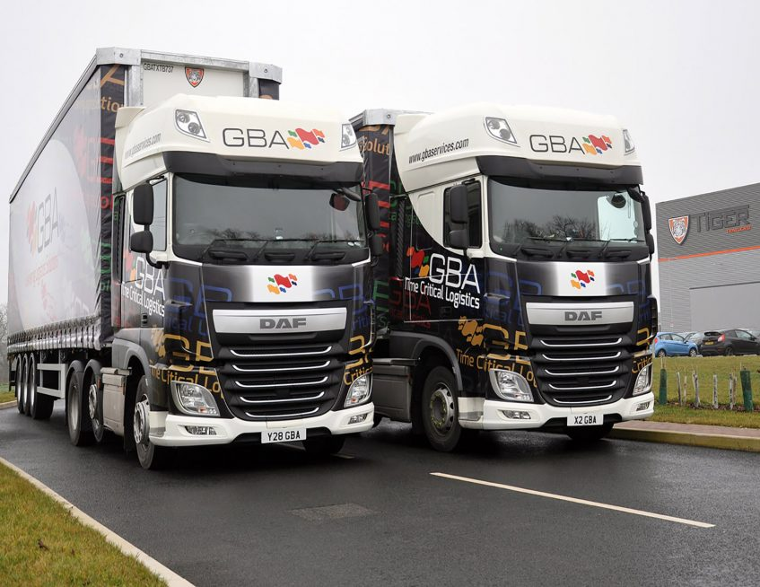 GBA Services tall boy curtainsiders with DAF trucks