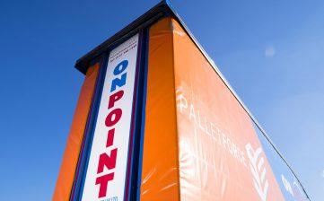 OnPoint Logistics straight frame double deck tallboy wraparound curtains