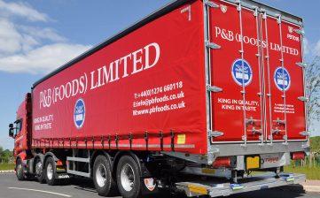 P&B Foods Bradford urban curtainsider - Aspoeck ECOLED indicators