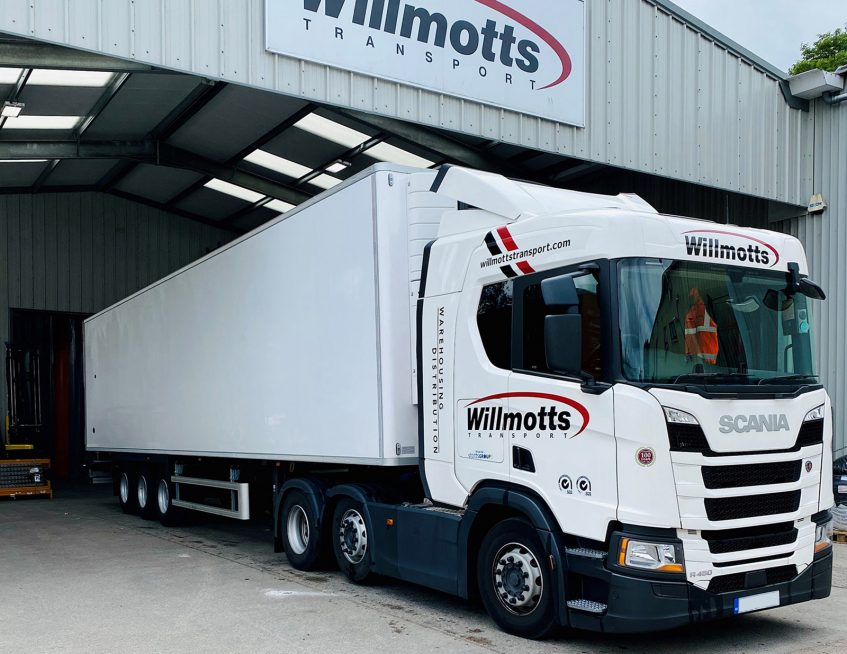Tiger Trailers news - Willmotts warehousing distribution south west trials refrigerated chilled temperature